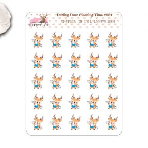 Darling Deer Cleaning time Stickers