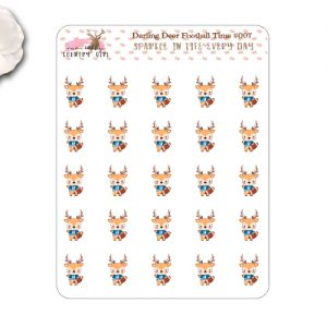 Darling Deer Football Stickers