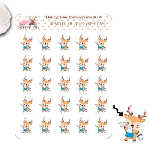 Darling Deer Cleaning Sticker Sheet