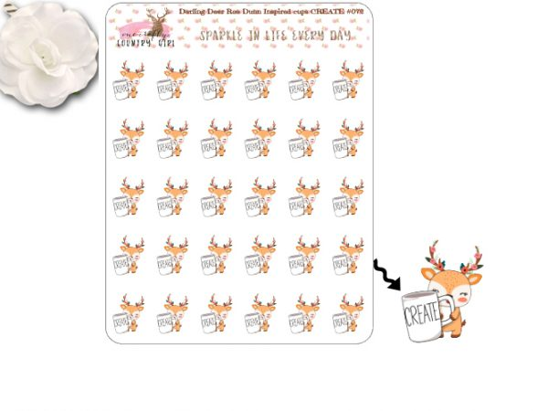 Darling Deer Create Rae Dunn Inspired Sticker Sheet