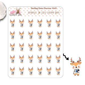 Darling Deer Doctors Sticker Sheet