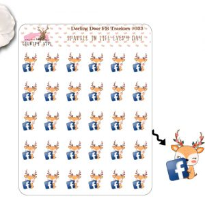 Darling Deer FB Sticker Sheet