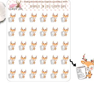 Darling Deer Rae Dunn Inspired Girl Boss Sticker Sheet