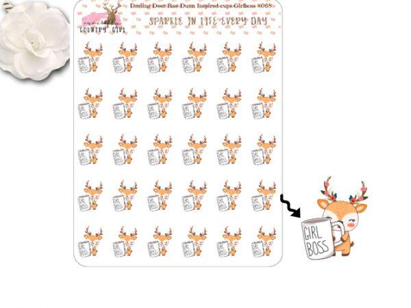 Darling Deer Rae Dunn Inspired Girl Boss Sticker Sheet