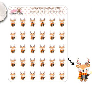 Darling Deer Gryffindor Sticker Sheet