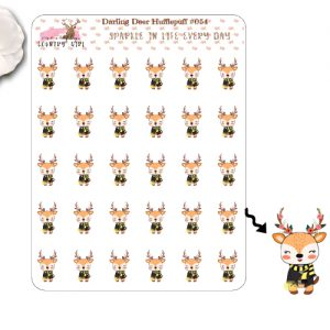 Darling Deer Hufflepuff Sticker Sheet