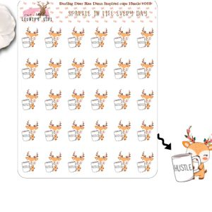 Darling Deer Rae Dunn Inspired Hustle Sticker Sheet