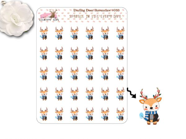 Darling Deer Ravenclaw Sticker Sheet