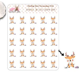 Darling Deer Vacuuming Sticker Sheet