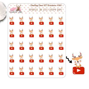 Darling Deer Youtube Sticker Sheet