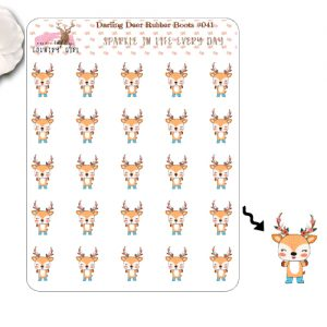 Darling Deer Rubber Boots Sticker Sheet
