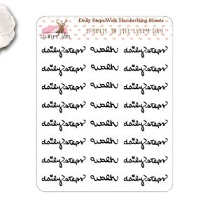 Daily Steps Handwriting Stickers