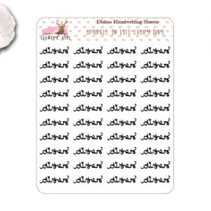 Dishes Handwriting Stickers