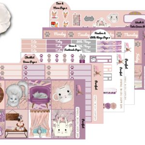 Purrfect 6 page sticker kit