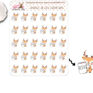Darling Deer Rae Dunn Inspired Besties Sticker Sheet