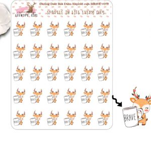 Darling Deer Rae Dunn Inspired Brave Sticker Sheet