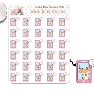 Darling Deer Facetime Sticker Sheet
