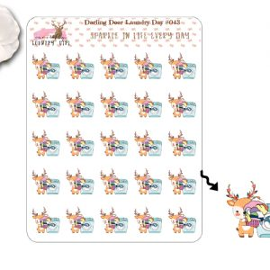 Darling Deer Laundry Sticker Sheet