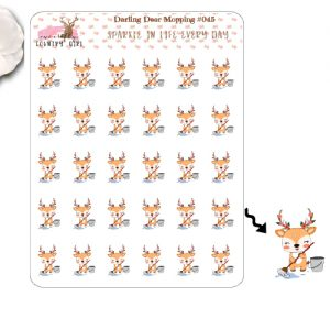 Darling Der Mopping Sticker Sheet