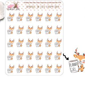 Darling Deer Rae Dunn Inspired Planner Girl Sticker Sheet