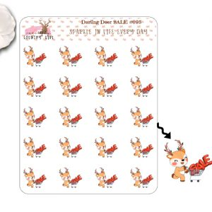 Darling Deer SALE Sticker Sheet