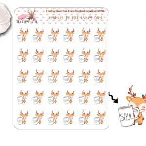 Darling Deer Rae Dunn Inspired Soul Sticker Sheets