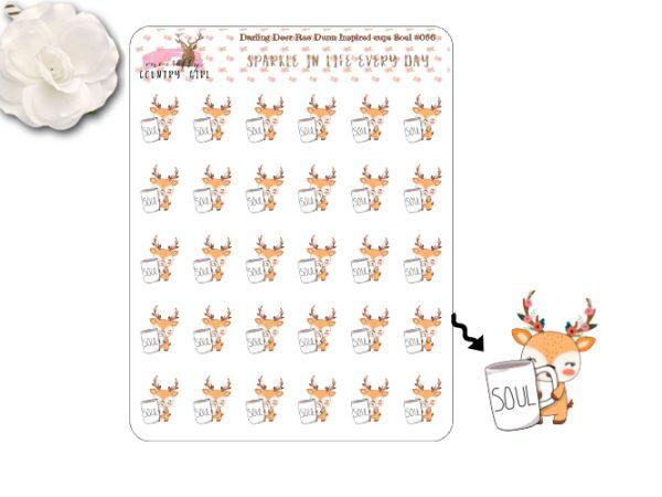 Darling Deer Rae Dunn Inspired Soul Sticker Sheets