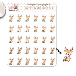 Darling Deer Sweeping Sticker Sheet