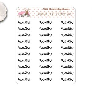 Walk Handwriting Stickers